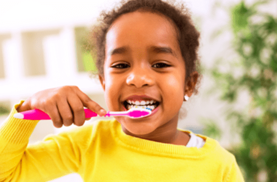 LittleGirlBrushingTeeth